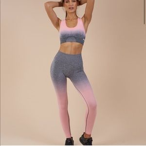 Gymshark Ombré Set In Peach/Grey NWT Size Large